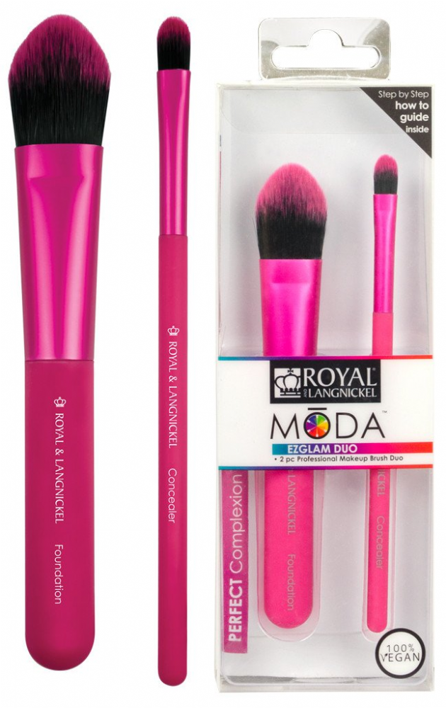 Royal Langnickel Moda EZGLAM DUO Perfect Complexion Brush